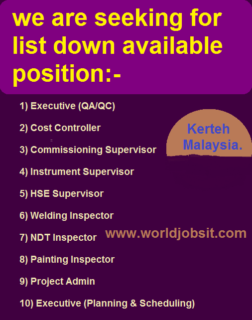 we are seeking for list down available position:-