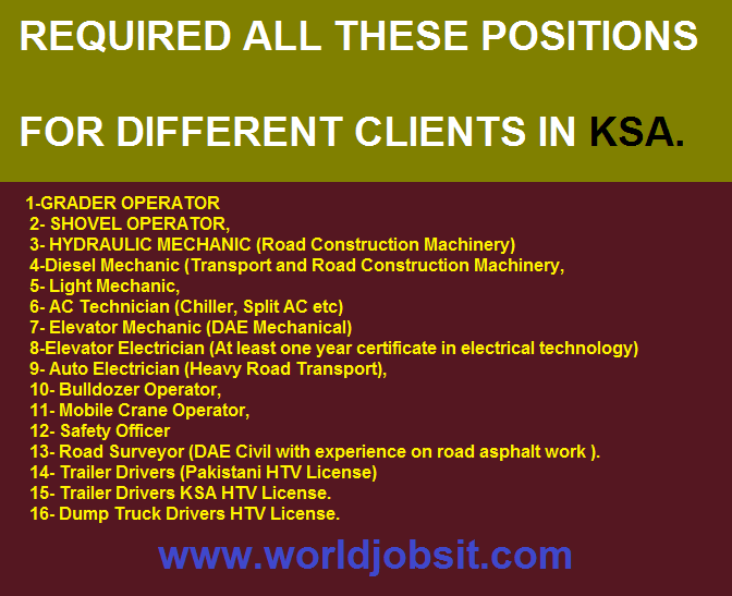 REQUIRED THESE POSITIONS 4 DIFFERENT CLIENTS