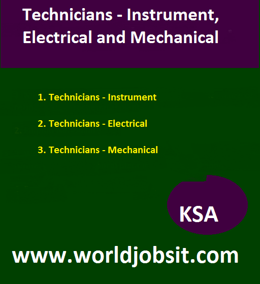 Technicians - Instrument, Electrical and Mechanical
