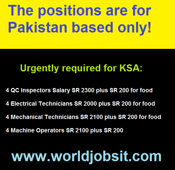 The positions are for Pakistan based only!