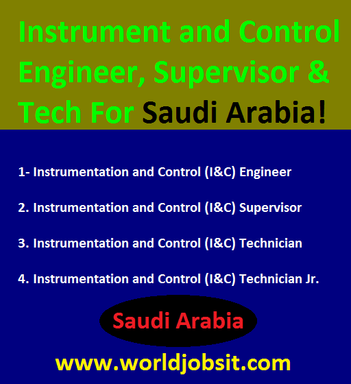 Instrument and Control  Engineer, Supervisor & Tech.