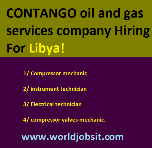 CONTANGO oil and gas services company Hiring!