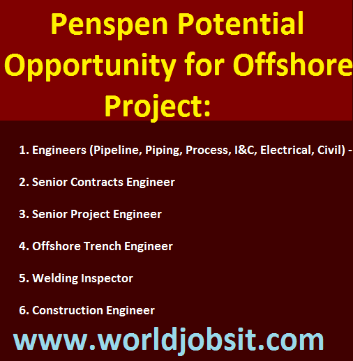 Penspen Potential Opportunity for Offshore Project: