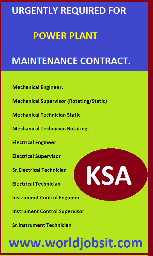 POWER PLANT MAINTENANCE CONTRACT.