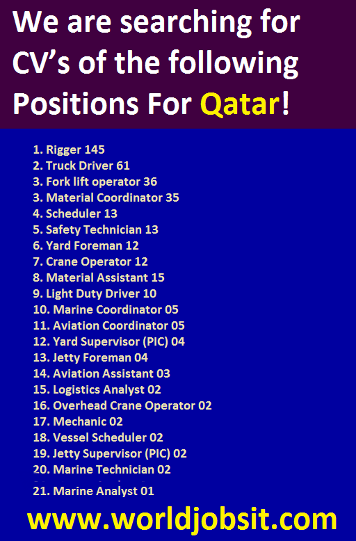 We are searching for CV's of the following Positions!
