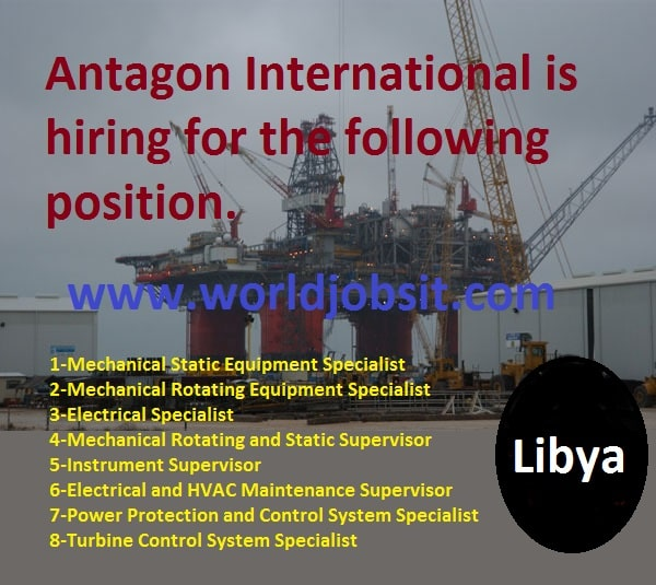 Antagon International is hiring for the following position.