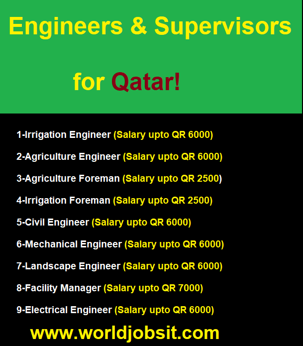 Engineers & Supervisors for Qatar!