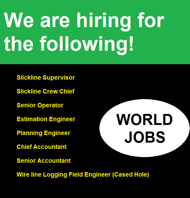 We are hiring for the following!