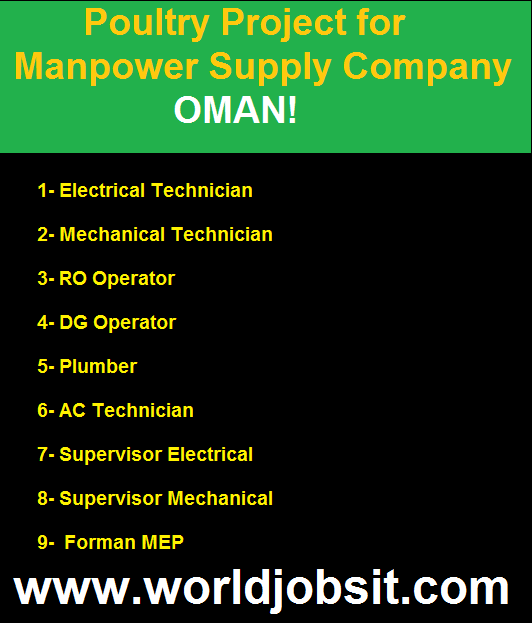 Poultry Project for Manpower Supply Company.