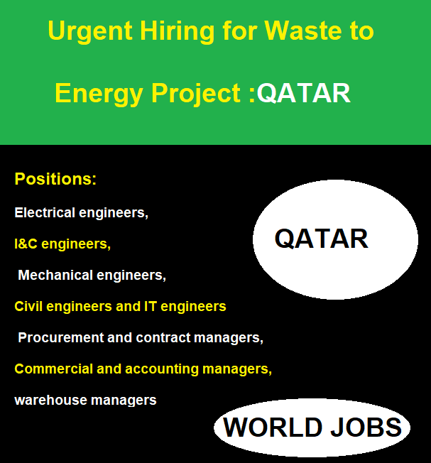 Urgent Hiring for Waste to Energy Project :