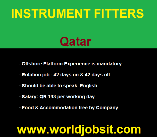 INSTRUMENT FITTERS to Work with our client in Qatar
