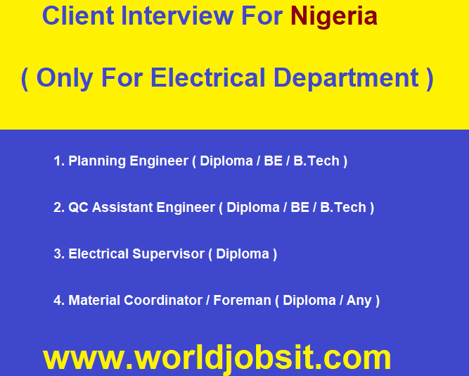 Electrical Department! Client Interview For Nigeria