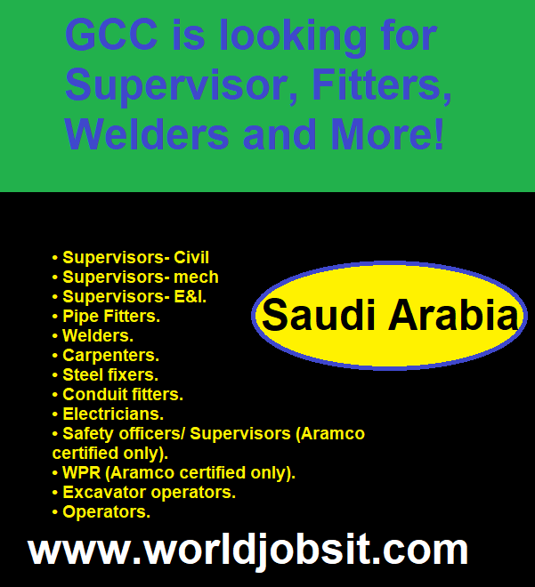 GCC is looking for Supervisor, Fitters, Welders and More!