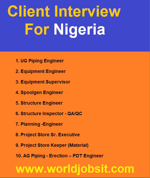 Client Interview For Nigeria Required Positions