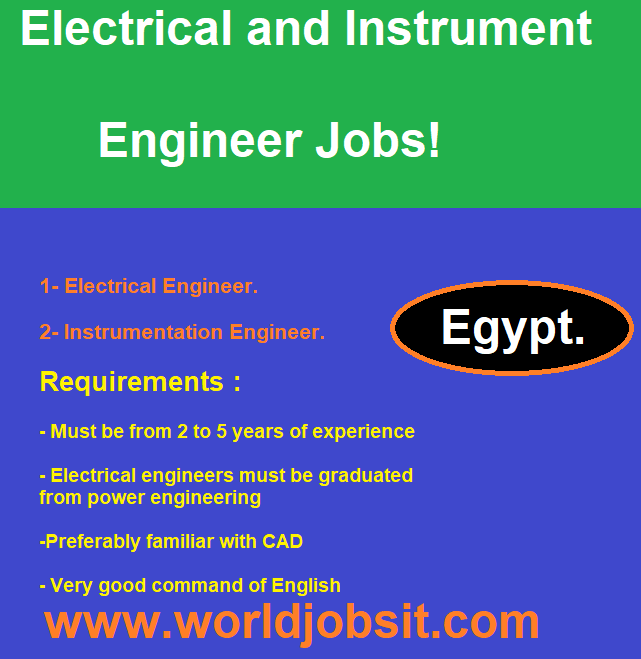 Electrical and Instrument Engineer Jobs!