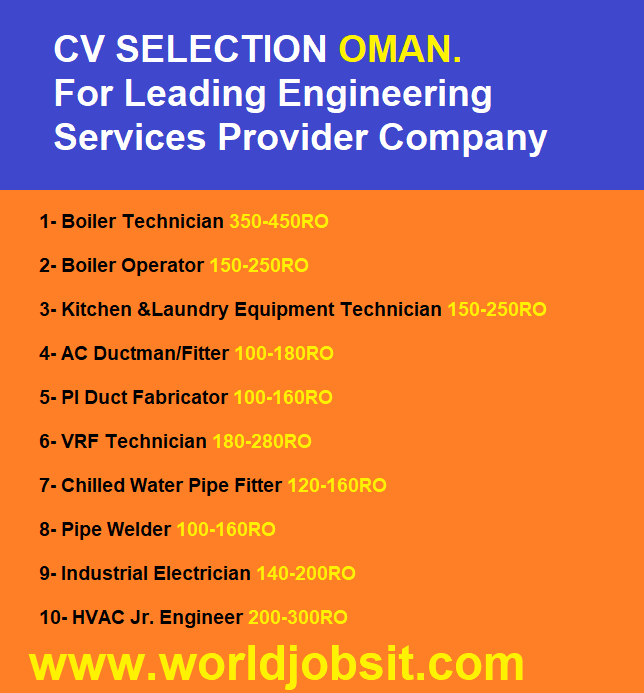 CV SELECTION For Leading Engineering  Company