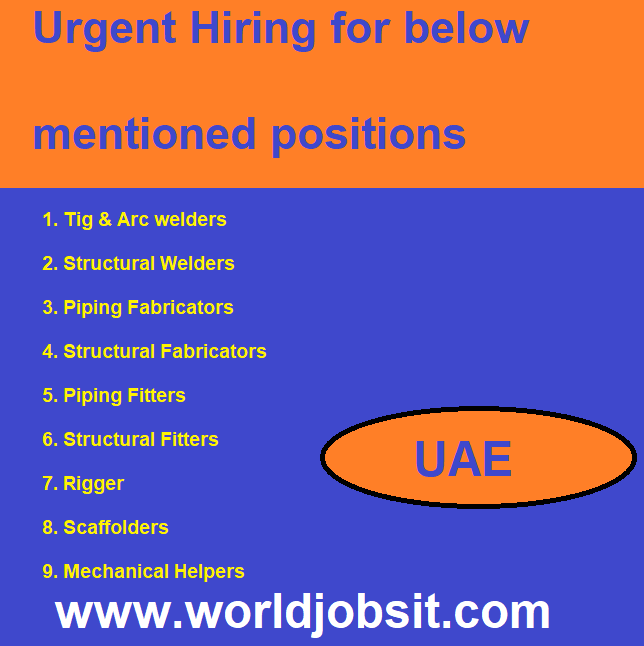 Urgent Hiring for below mentioned positions