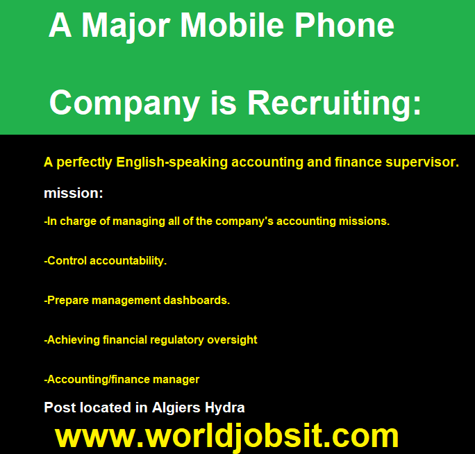 A Major Mobile Phone Company is Recruiting Algeria!