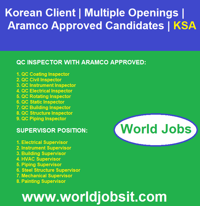 Korean Client | Aramco Approved Candidates | KSA