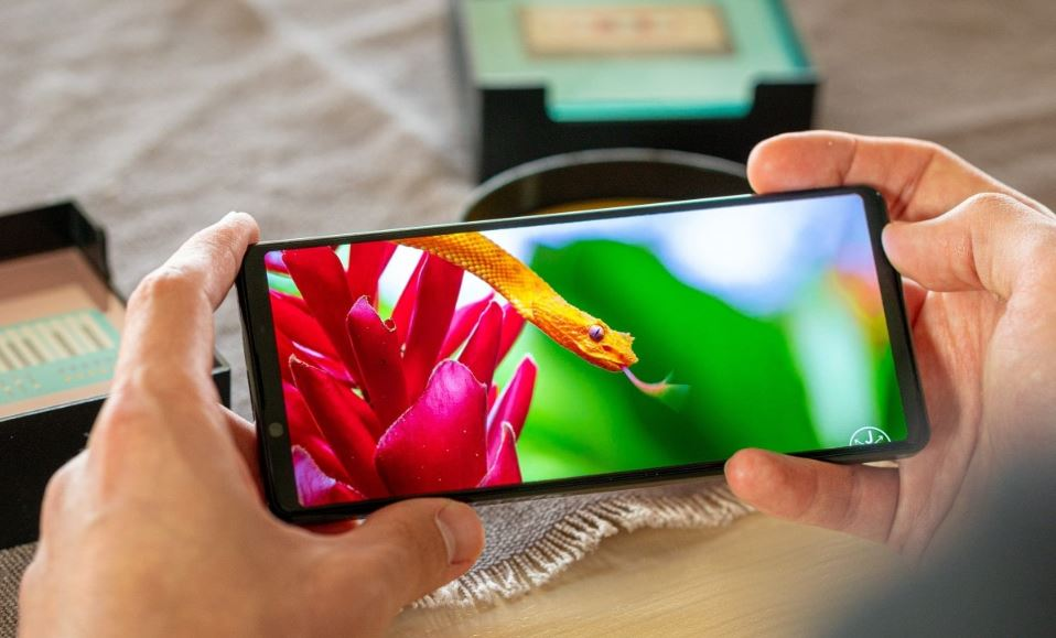 The first smartphone to have a 4K HDR OLED display