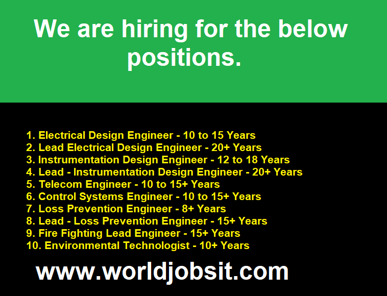 We are hiring Engineers in Different Categories