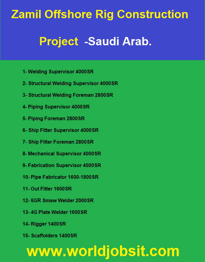 Zamil Offshore Rig Construction Project  -Saudi Arab.