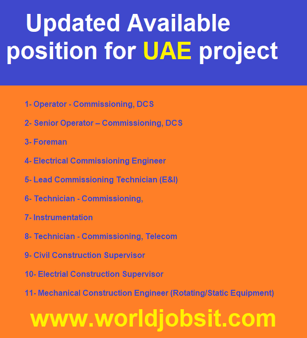Updated Available position for UAE project
