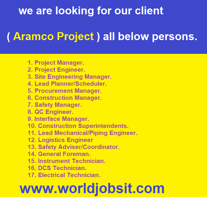 we are looking for our client all below persons.