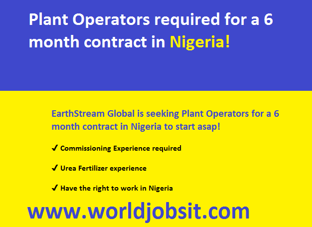 Plant Operators required for a 6 month contract in Nigeria!