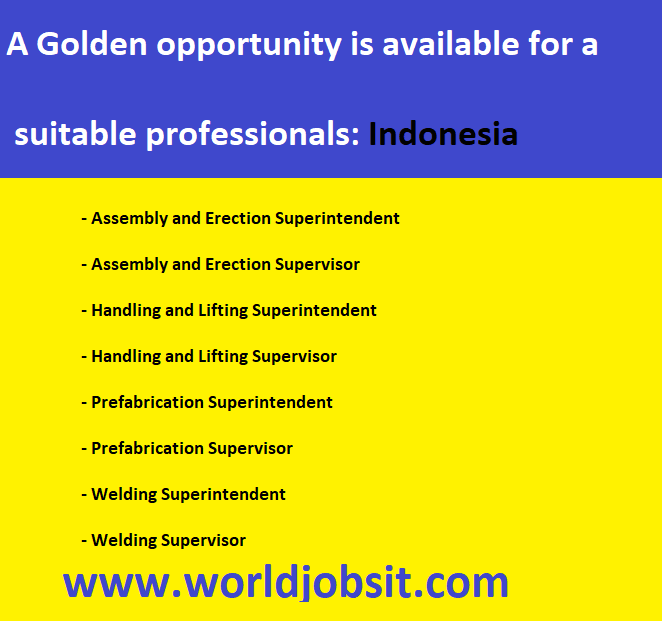 A Golden opportunity is available for a professionals: