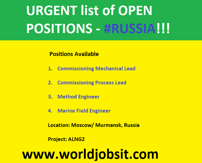 URGENT list of OPEN POSITIONS - RUSSIA!!!