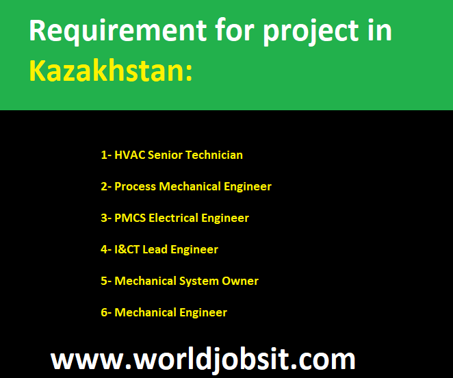 Requirement for project in Kazakhstan: