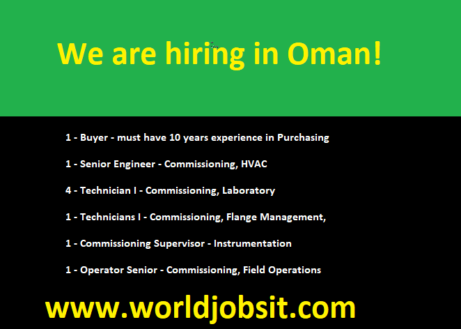 We are hiring in Oman!