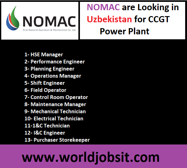 NOMAC are Looking in Uzbekistan for CCGT Power Plant