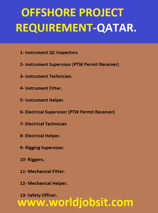 OFFSHORE PROJECT REQUIREMENT-QATAR.