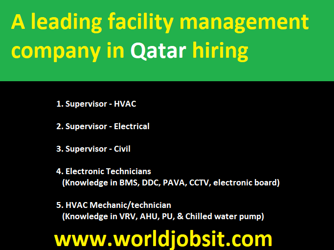 A leading facility management company in Qatar hiring