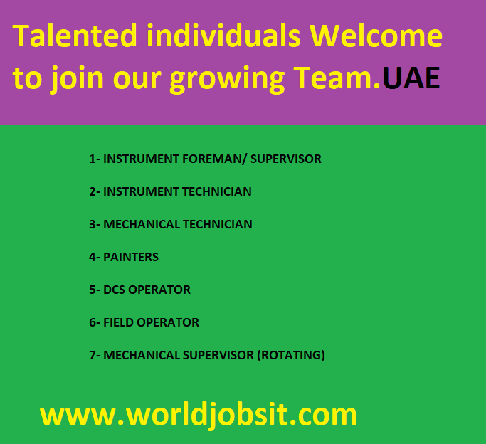 Talented individuals Welcome to join our growing Team.