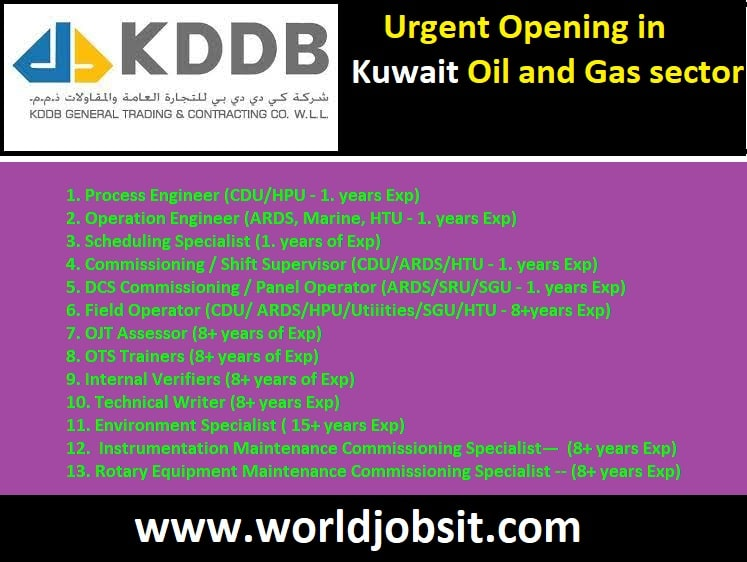 Urgent Opening in Kuwait Oil and Gas sector for long term commissioning project.