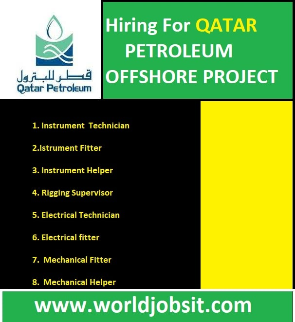 Hiring For QATAR PETROLEUM OFFSHORE PROJECT