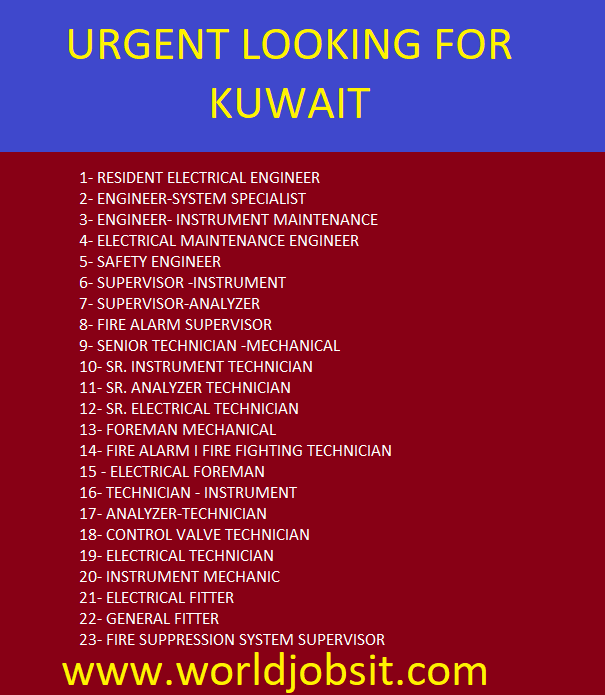 URGENT LOOKING FOR KUWAIT