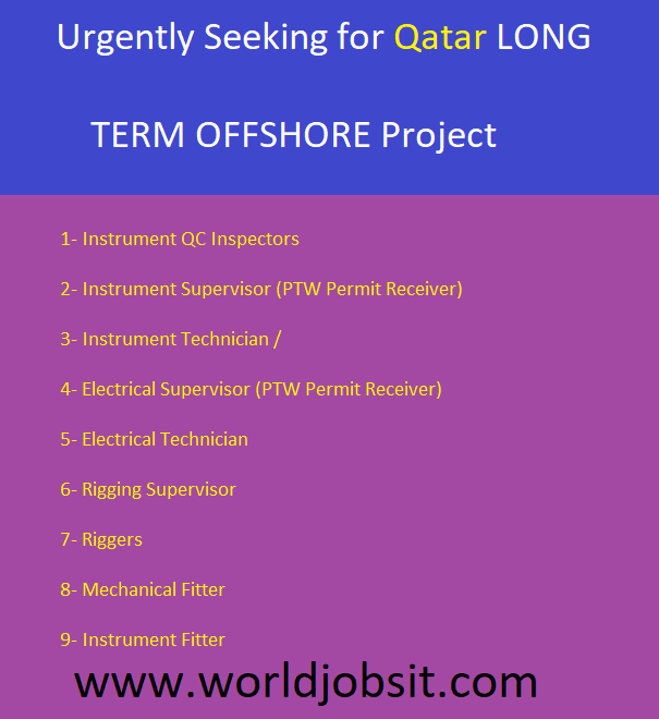 Seeking for Qatar LONG TERM OFFSHORE Project