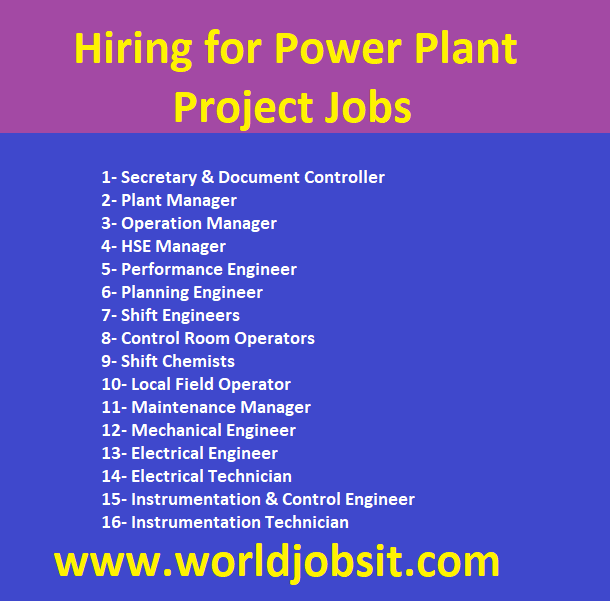 Hiring for Power Plant Project Jobs
