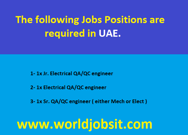 The following Jobs Positions are required :