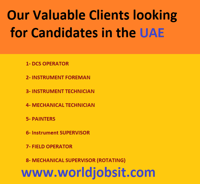 Our Valuable Clients looking for Candidates in the UAE