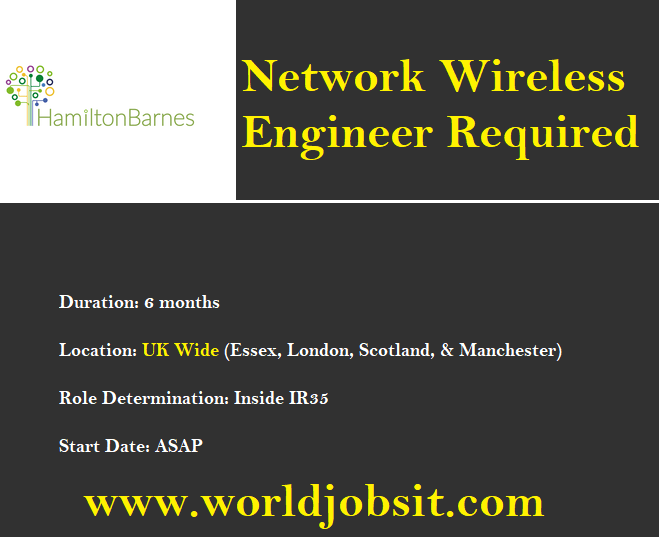 UK Solutions Provider Required Network Wireless Engineer