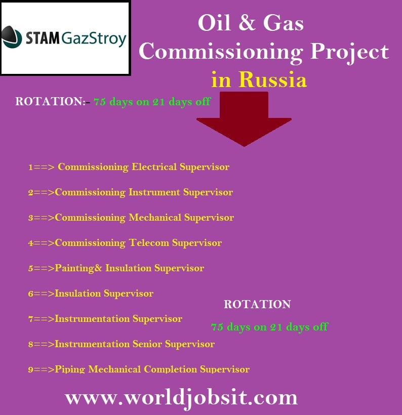 Urgent Opening in Oil & Gas Commissioning Project in Russia